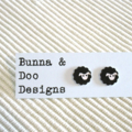 Black Sheep Stud Earrings