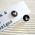 Black Sheep Stud Earrings