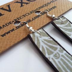 Eco earrings rectangular