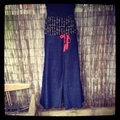 Last ones Large Denim Roll Top Pants