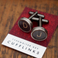 Typewriter-key cufflinks - CHOOSE YOUR OWN SET letters/numbers/symbols