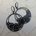 Black Gogo Filligree Earrings