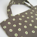 BUSHFIRES Green, cream and brown floral print calico lined tote