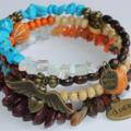 Dream Earth Angel Memory Wire Bracelet
