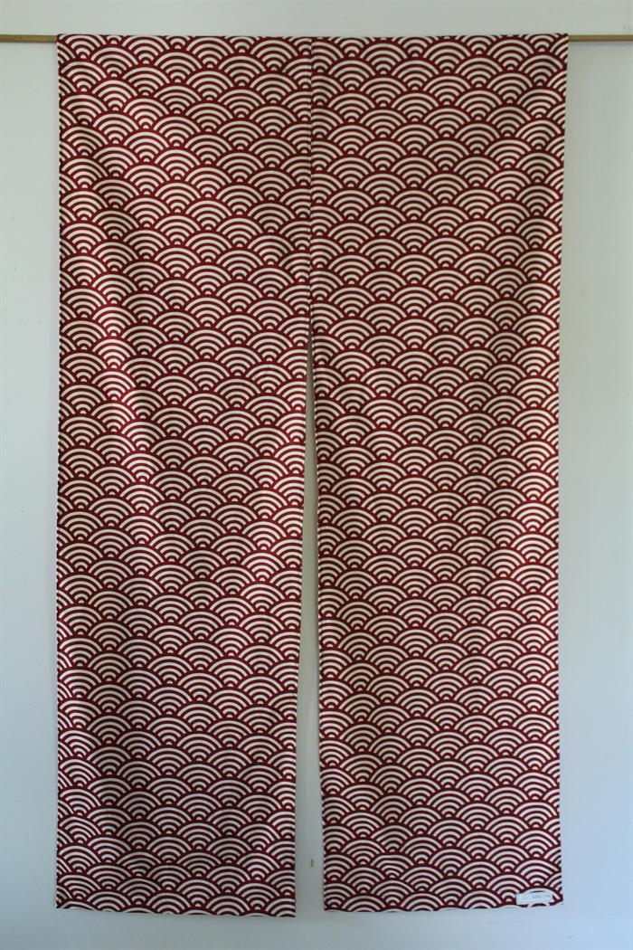 Zen door curtain cover, Noren, Japanese ocean wave print, homewares