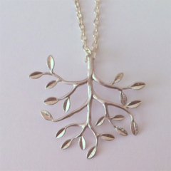 Tree Necklace in Silver, Christmas Gift, for Mother, for Teacher