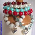 """""""AUSTRALIA DAY"""" bracelet stack"""