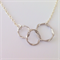 Infinity triple circle necklace - Silver, Mother's Day Gift