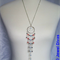 """AUSTRALIA DAY"" earring and necklace set"
