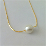 Floating Pearl Gold Necklace