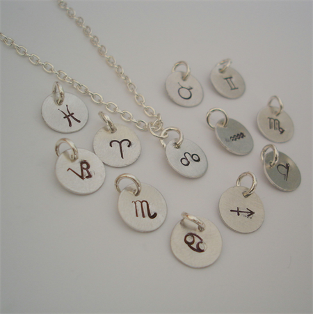 Zodiac Necklace - Silver - Birth Star Sign Necklace