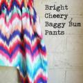 Bright Cheery Baggy Bum Pants