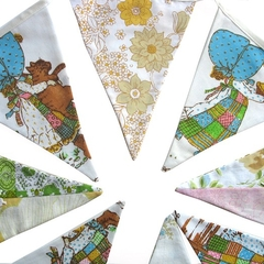 Holly Hobbie Vintage & Floral Flag Bunting * Girls Pennant Decoration