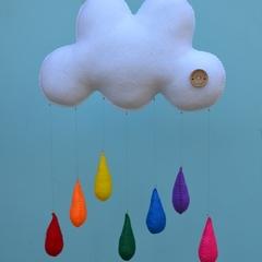 "The ""Original"" Milbot & Chooky rainbow drops childrens mobile/nursery decor"