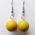 Yellow Beaded Abacus Earrings Mix and Match