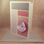 Flower Card - Any Occasion - Handmade - Layered Flower Embellishment