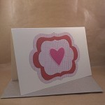 Heart Card - Any Occasion - Handmade - Die Cuts - Scrapbooking Paper