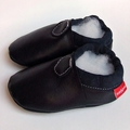 Navy 0-6m soft soled baby shoes