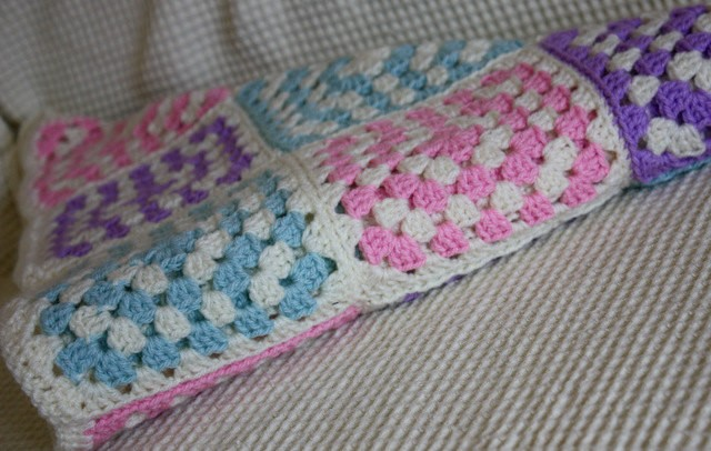 Crochet Baby Blanket Granny Square Pattern Made To Order Cuts With