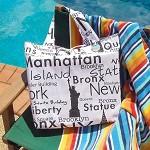 SALE - Reversible Tote Bag large - New Yorker tote bag - USA/New York city bag