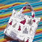 SALE - Reversible Tote Bag large - teacher bag - shop bag - retro French/Paris