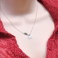 Personalized Jewelry Sterling Silver Two Peas In A Pod Layering Necklace