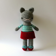 little ruby ... stuffed plush toy cat kitty kitten amigurumi crochet