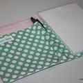 A6 Organiser  -pink shabby floral mint spots