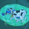 Art smock for 3 - 4 year old, Cow.