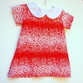 Red Peter Pan Collar Dress for baby ~ Size 00.