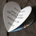 3D Heart Save the Date Fridge Magnet