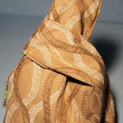 Reversible Loop Bag - Brown Swirls