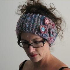 Musk - Hand Spun Wool Hand Knitted Headband