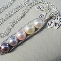 Five Peas In A Pod Necklace Colors Of Purity - Pick And Mix Your Colours