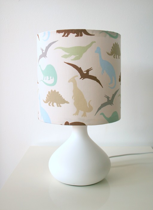Dinosaur Fabric Table Lamp And Lampshade For Boys Room