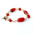 Orange Red Coral Bracelet