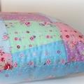 CUSTOM ORDER for Julia. Quilted Tumbler Cushion, flower sugar