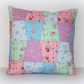 CUSTOM ORDER for Julia. Quilted Tumbler Cushion, flower sugar