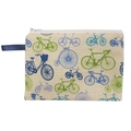 Blue Bicycles Zip Pouch