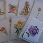 Box Set of Handmade Australian Gift Cards & includes Pen.