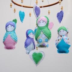 Babushka Doll Nursery Mobile