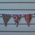 The Grace Bunting - Pink, Green, Red