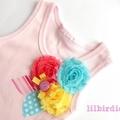 Flower Rosette Baby Bodysuit Baby onesie