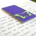 Magnetic bookmark (small) - purple green butterfly