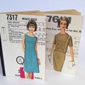 Notebook Recycled Memo Book Vintage Ladies Fashion 1960s