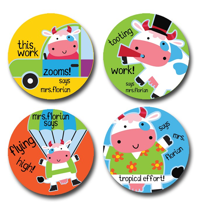 Personalised merit stickers for teachers bag of 40