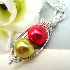 Personalized Birthstone Necklace Two Peas In A Pod Ideal Gift For Mum Grandma