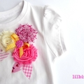 Ice Cream Candy Shabby Rose Appliqued T shirt Sizes 1 - 6 (Girls)