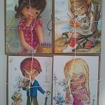 1 x Vintage/retro style cards
