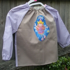 Toddler age 2-3 years, art smock - mauve fairy. T19.